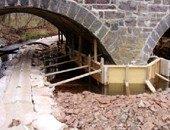stone arch bridge rehabilitation steel structural plate arches