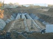 perforated corrugated steel pipe water treatment system