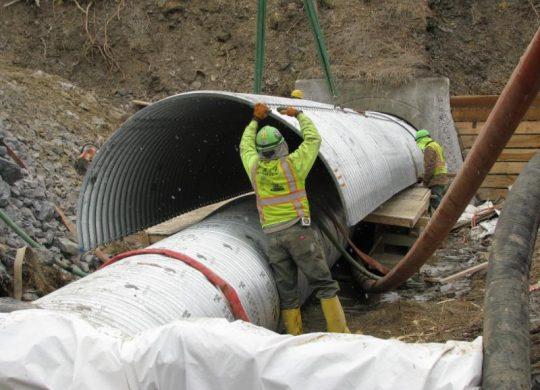 pennsylvania turnpike corrugated steel structural plate culvert rehabilitation