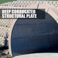Deep Corrugated Structural Plate Button