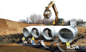 corrugated steel pipe detention system large volume detention system