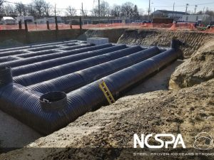 Polymer coated CSP detention systems Polymer coated CSP polymer coated detention system