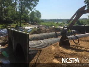 polymer coated corrugated steel pipe polymer coated csp polymer wing walls bridge replacement