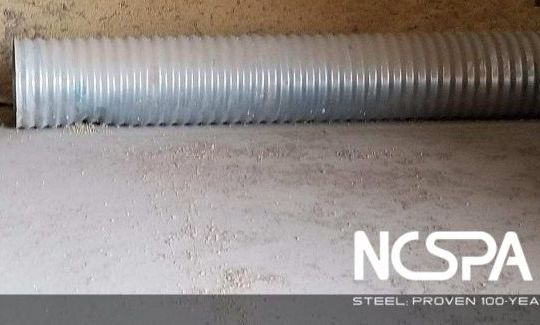 grain aeration corrugated steel aeration system perforated pipe