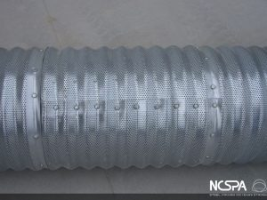 grain aeration corrugated steel aeration system perforated pipe grain storage