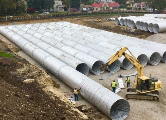underground detention system, stormwater retention, aluminized underground detention system