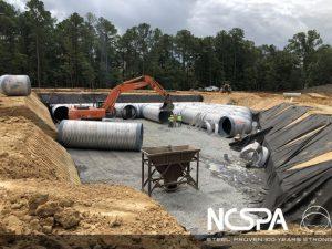 underground detention basin Storm water runoff