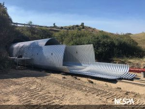 steel structural plate underpass structure reline