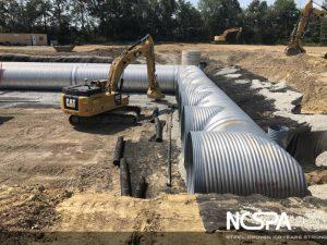 storm water detention aluminized csp alt2 pipe