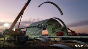 deep corrugated plate structure steel bridge